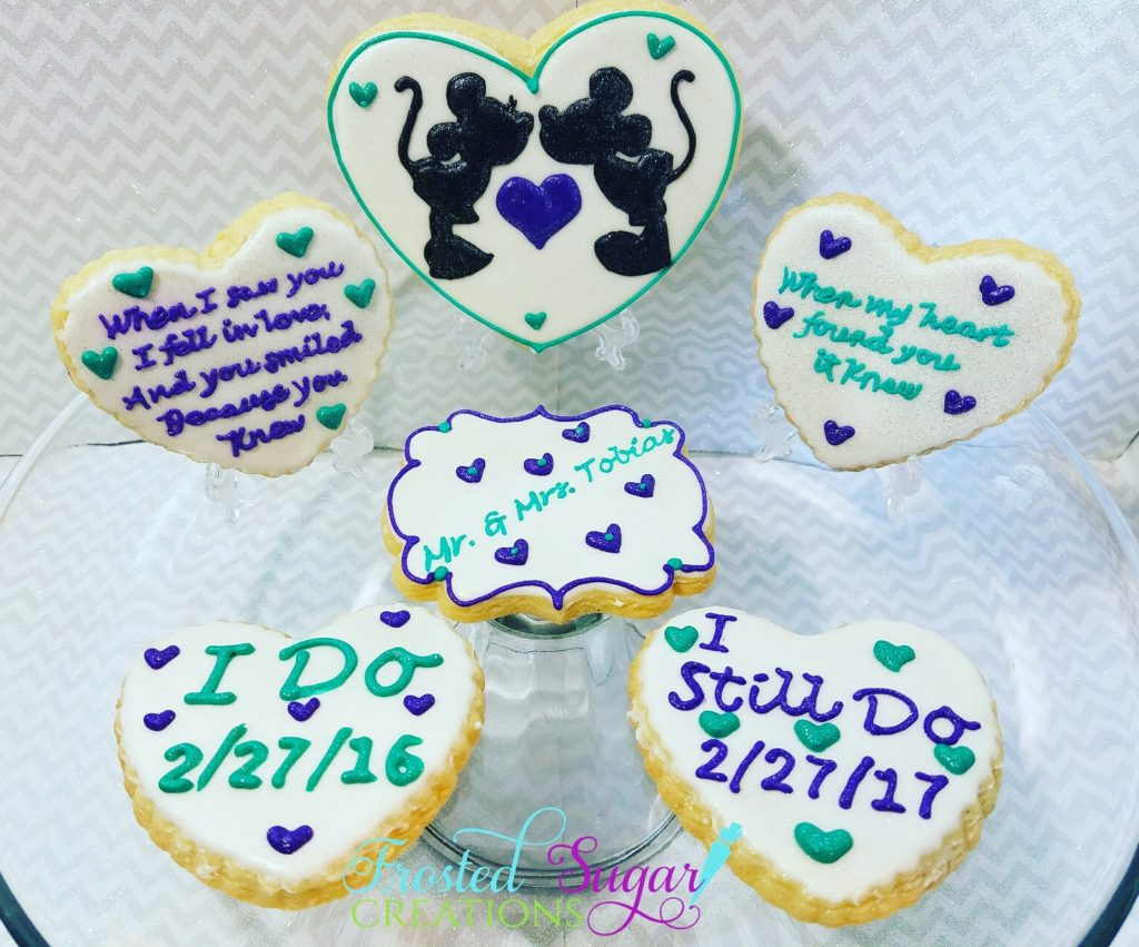 Anniversary cookies-mickey and minnie